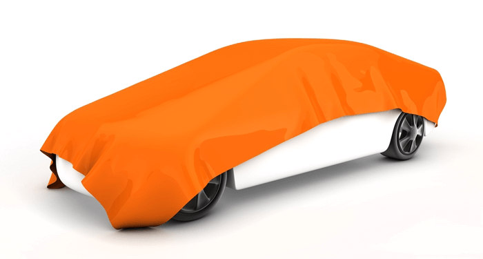 Car Covered By Blanket