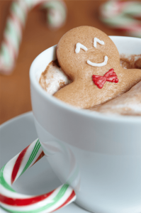 ginger bread man in hot coco