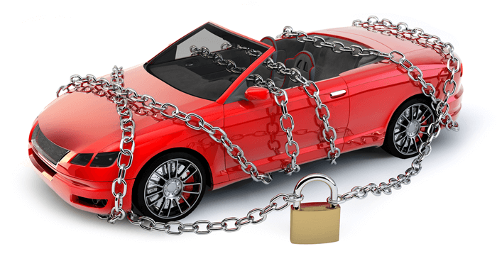 Automobile Protected In Chains