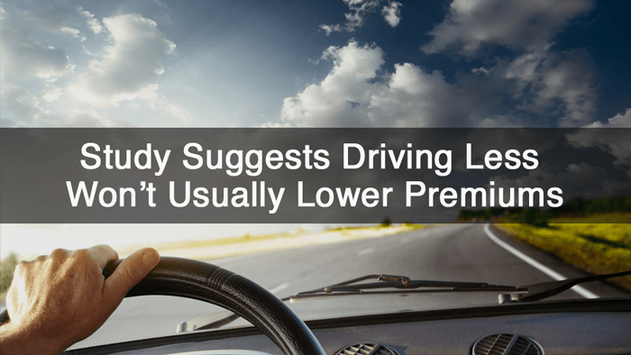 Driving Less Won't Usually Lower Premiums